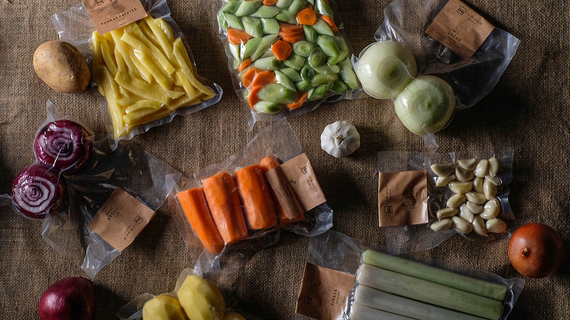 Soyulmuş Doğranmış Sebzeler